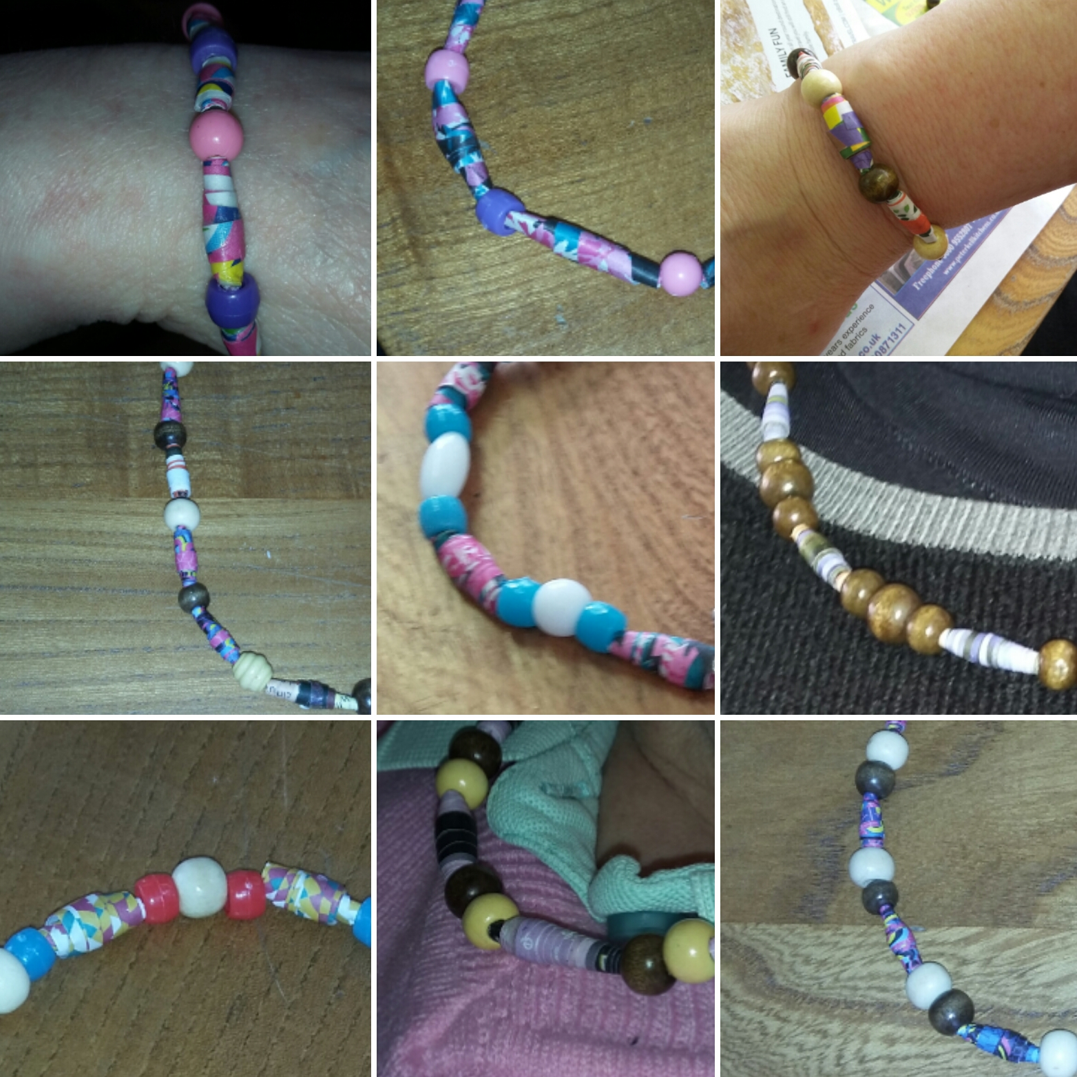 Paper bead jewellery with Colour Your Life
