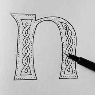 Celtic Knotwork Alphabet by Carrie Dennison