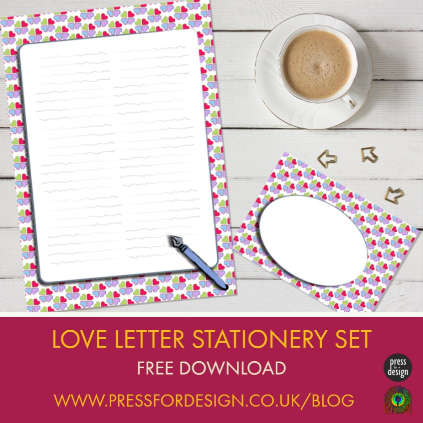 Get Creative: Love Hearts Writing Set – free download