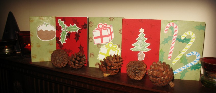 Get Creative: Lino printed Christmas cards