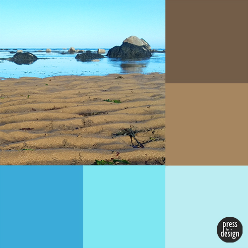 Tuesday Colour Inspiration: An Evening at the Beach