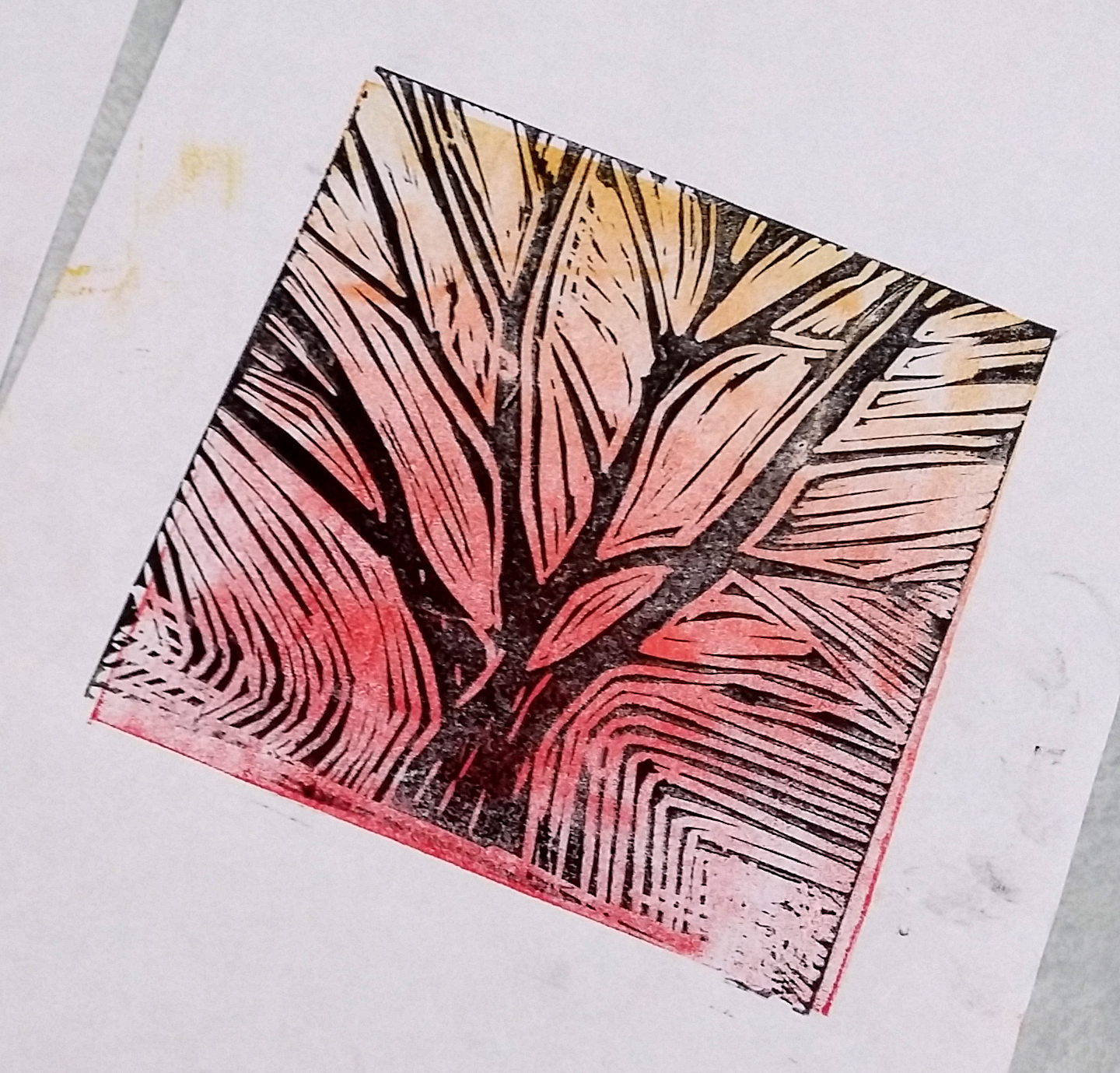 Lino printing workshop with Lanchester Art Group