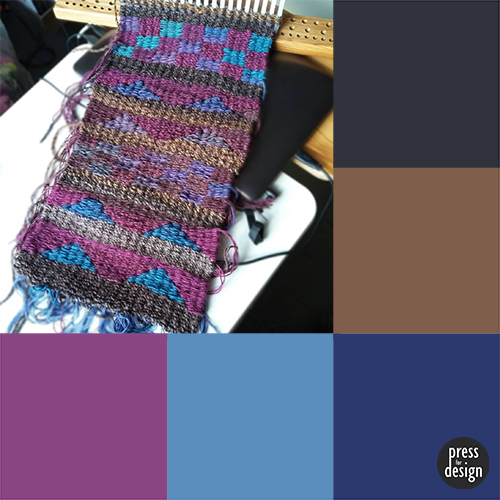 Peg loom weaving - colour inspiration swatch