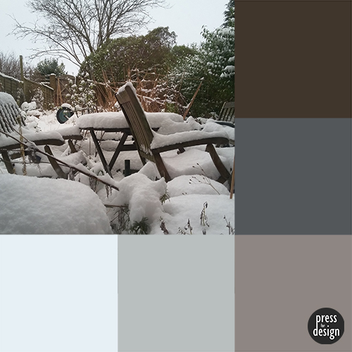 Snow Day colour inspiration swatch