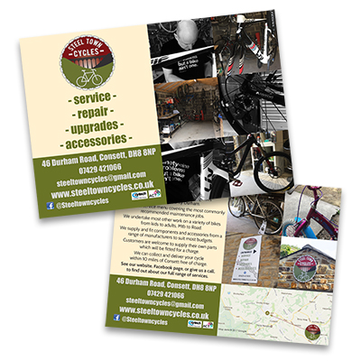 Steel Town Cycles leaflet design