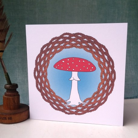Celtic Fly Agaric greetings card