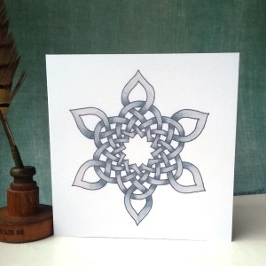Celtic Snowflake greetings card