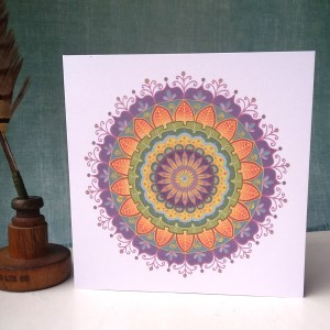 Floral Mandala greetings card