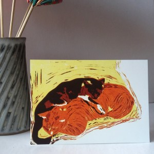 The Cats greetings card