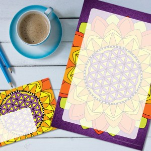 Dendryad Art - Flower of Life stationery set