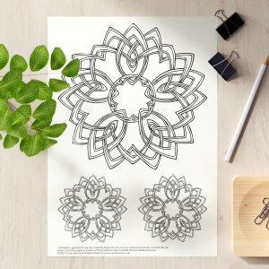Celtic Floral Mandala 1 colouring page