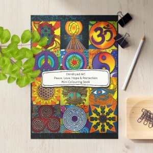 Dendryad Art - Peace Love Hope and Protection Mini Colouring Book