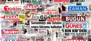 Gazete manşetleri 10 Ocak 2015
