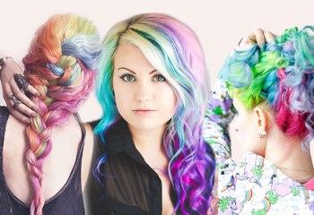 46 örnekle yeni trend saç modeli Rainbow