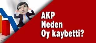 AKP'nin neden oy kaybettiği belli oldu
