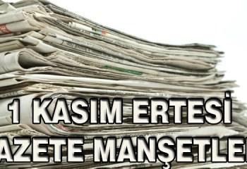 1 Kasım Sonrası Gazete Manşetleri!