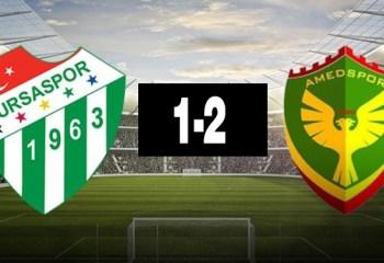 Amedspor Bursaspor'u 2-1 yendi
