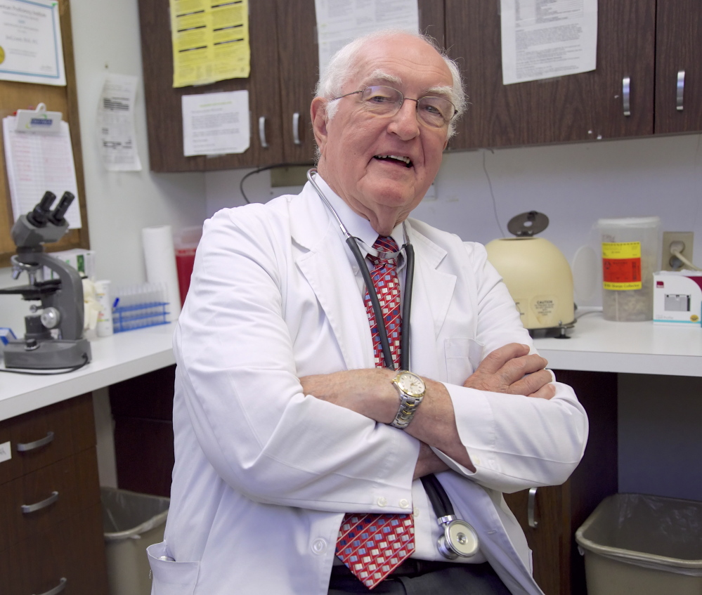 "Dr. Jack Lewis, who turns 81 this week, has his physician son watching for mistakes as Lewis sees up to 30 patients a day. ""If I made a mistake, I'd be the first one to quit here,"" he said."