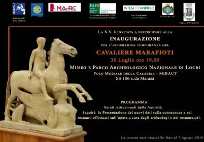 invito - Cavaliere di Marafioti a Locri