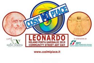 Community Street Art Day - CosiMIpiaceLeonardo - banner