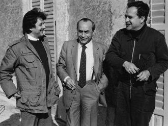 Giuseppe Leone Leonardo Sciascia e Piero Guccione negli anni 80
