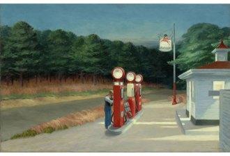 Edward Hopper - Gas, 1940 Olio su tela, 66.7 x 102.2 cm The Museum of Modern Art, New York, Mrs. Simon Guggenheim Fund