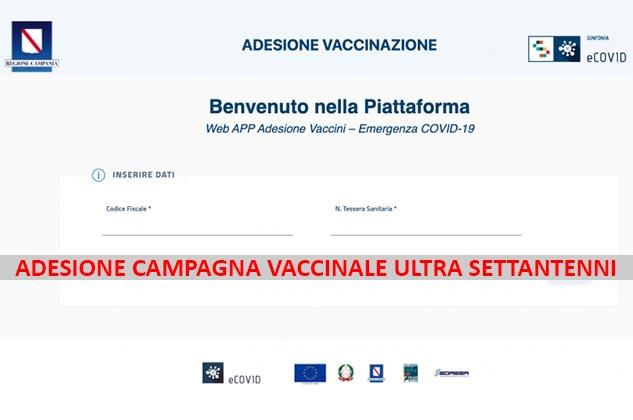 Adesione Vaccino Covid-19 in Campania: è aperta la piattaforma telematica riservate ai campani con oltre 70 anni di età. Ecco il Link