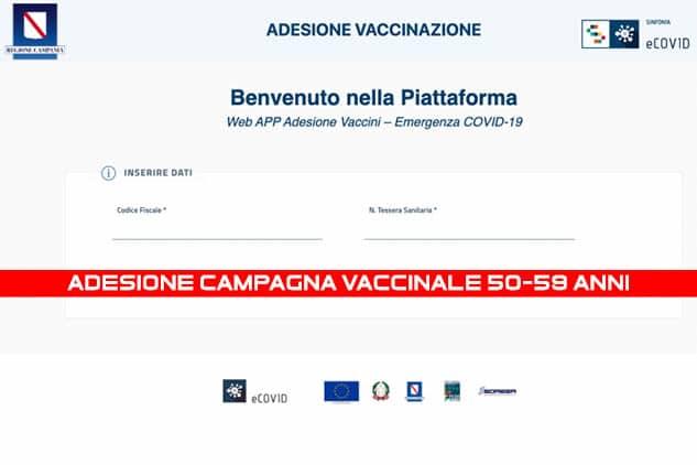 Adesione Vaccino Covid-19 in Campania: domani mattina sarà aperta la piattaforma telematica per le adesioni al piano vaccinale della fascia di età 50-59. Ecco il Link per la registrazione