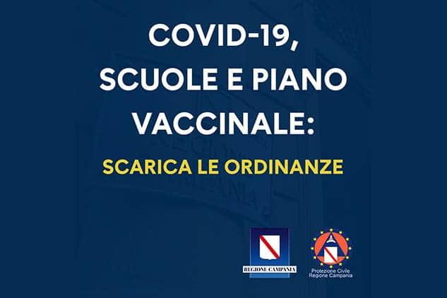 COVID-19. Regione Campania, scuole e piano vaccinale: De Luca firma le ordinanze n.15 e 16 del 23 aprile 2021
