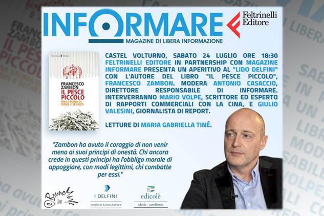 """L'ex alto funzionario dell'OMS Francesco Zambon a Castel Volturno per parlare del """"suo"""" rapporto sull'andamento della pandemia"""