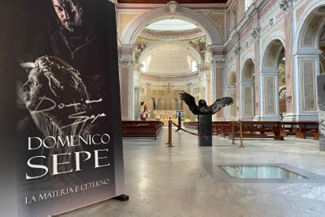 """Napoli. Basilica di San Giovanni Maggiore """"LA MATERIA E L'ETERNO"""" di Domenico Sepe. Mostra a cura di Daniela Marra e Ferdinando Sorrentino"""