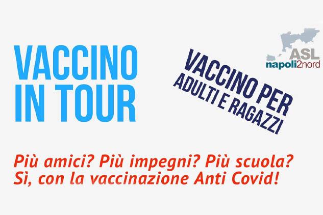 """Terza Tappa del """"Vaccino in Tour"""" nelle scuole. Da Sabato 01 Ottobre 2021 fino a venerdì 8 Ottobre dalle ore 9.00 alle 18.00"""