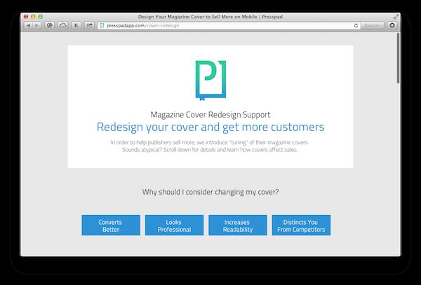 presspad cover design support