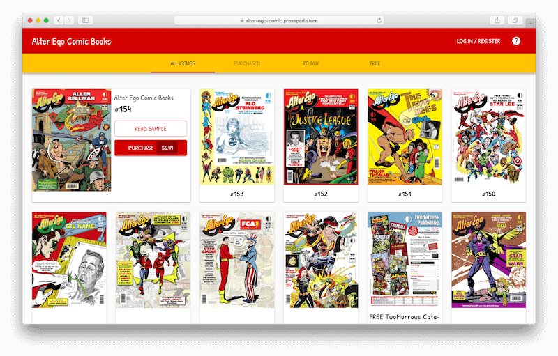 Distribution platform for digital comics books