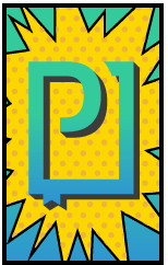 PressPad logo comic book