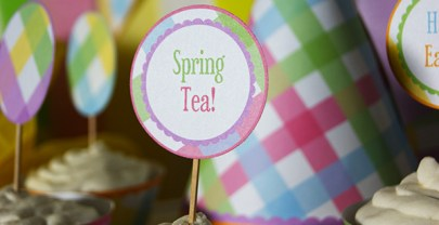 Spring Gingham Party Printables {Easter Printables}