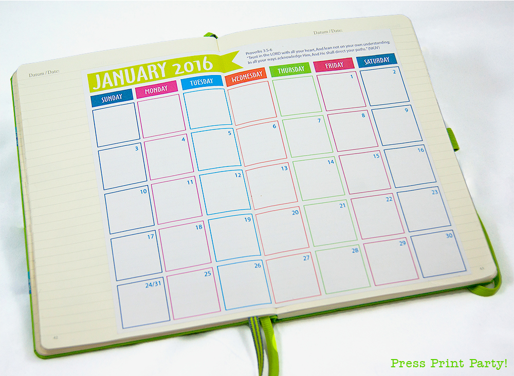 2016 Bullet Journal Calendar {Free Printable}