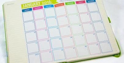 2016 Bullet Journal Calendar {Free Printable}
