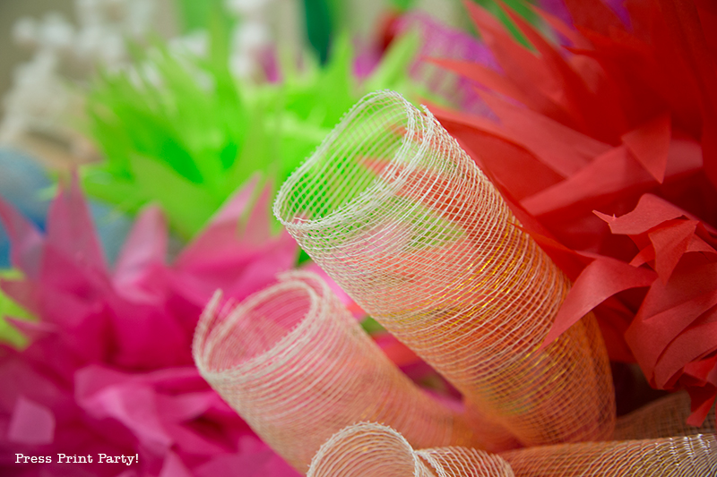 How to Make a Stunning Coral Reef for you Under the Sea Party, Mermaid Party, or VBS. By Press Print Party #OceanCommotion #Underthesea #mermaid Decorations