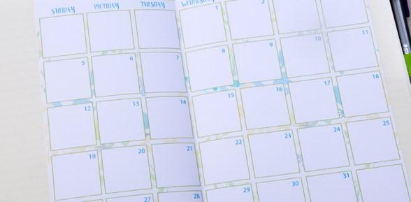 2017 Calendar Printable for Bullet Journals – Watercolor Designs