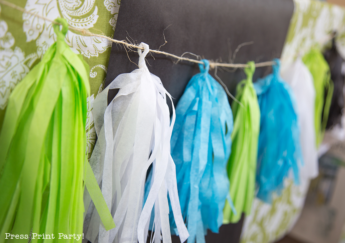 How to Make Tissue Paper Tassels and Garlands
