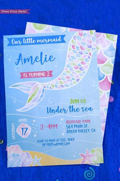 Mermaid Party Printables Archives Press Print Party