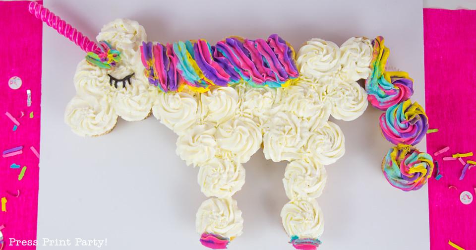 How To Make A Unicorn Cupcake Cake Press Print Party