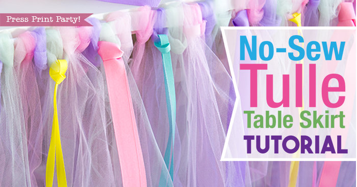 No Sew Tulle Table Skirt Tutorial W Ribbons EASY