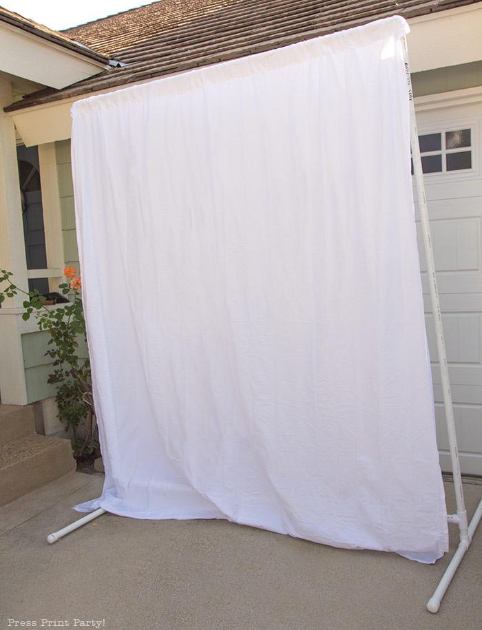 easy pvc backdrop frame diy press