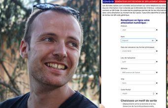 Johann Pardanaud, lyonnais, 29 ans, développeur chez Batch, auteur de l'application d'attestation de déplacement dérogatoire