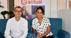 Mirelle Techer et Frank Petitdemange, groupe Actual Leader