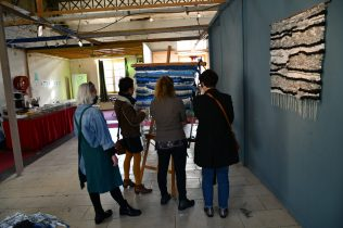 tissage collectif, participatif à upcycling festival