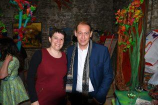 Christelle Marchal, maire de Malleval au Vernissage de exposition de 7 artistes Internationaux à la Galerie d'Art Emma