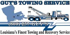Guy's Towing Service is the Leading Tow Truck Company in New Roads 1